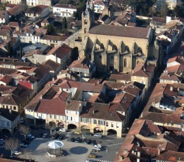 vue aerienne de la bastide photo video club mirandais